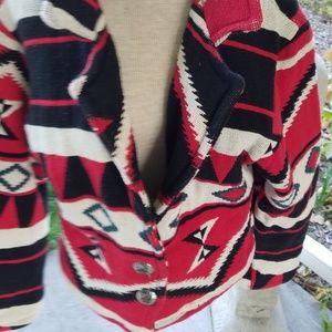 Vintage southwestern cropped jacket (L)